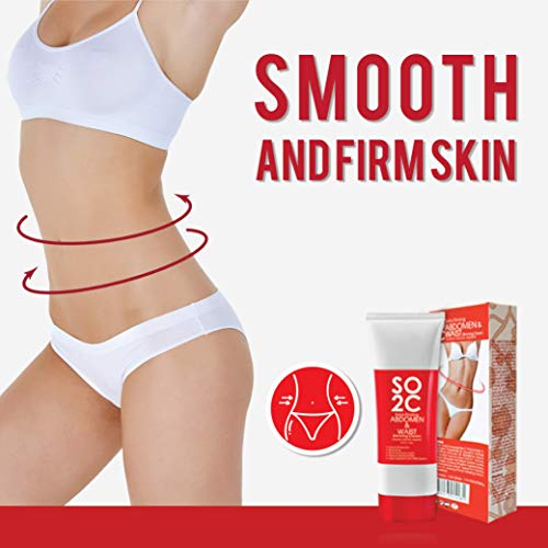 Anti Cellulite Remover Cream by SO2C | All-Natural Anti-Cellulite & Skin Firming, Tightening, Toning, Slimming & Thermogenic Cream | Tightening and Slimming for Hips, Waist and Abdomen | Set of 1 4