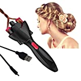 FIGHTART Automatic Hair Braider USB Electric Hair Braiding Machine DIY Tool Magic Twister Roller Styling Styler Bun Maker (Not include the batteries)