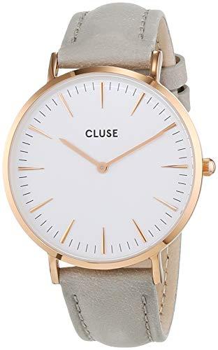 CLUSE - Orologio da donna La Boheme placcato oro rosa, bianco/grigio CL18015