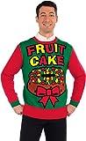 Forum Novelties Adult All Wrapped Up Ugly Christmas Sweater, Fruit Cake, Medium
