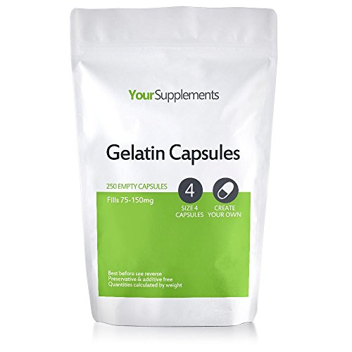 Your Supplements - Capsule in Gelatina, Vuote, Tagila'4', 250 Pezzi