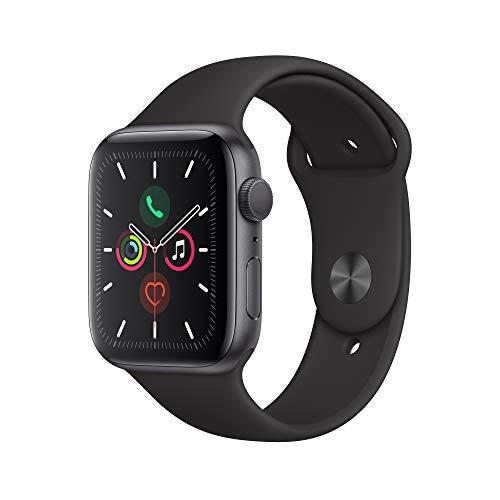 Apple Watch Series 5(GPSモデル)- 44mmスペースグレイアルミニウムケースとブラックスポーツバンド - S/M ...