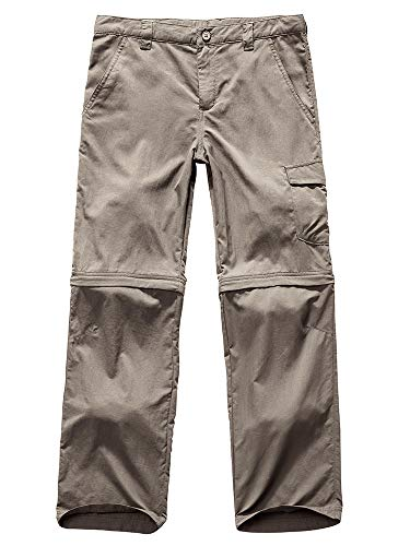 Kids Girls Outdoor Quick Dry Convertible Pants, Hiking...