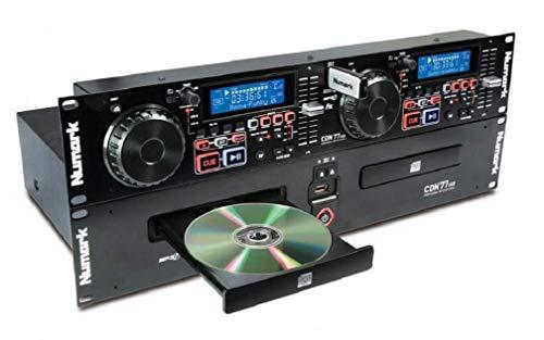 Numark CDN77USB - Doppio Lettore MP3/CD Professionale USB per DJ con Funzioni Esclusive, Compatibilit CD / MP3CD e Riconoscimento D3 Tag & Cartelle
