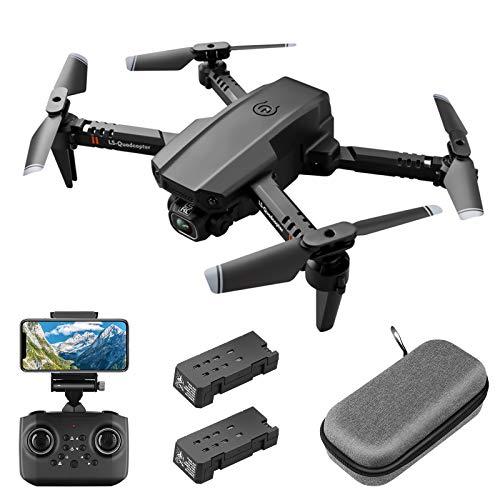 Mini drone con Telecamera HD 1080P FPV per adulti, quadricottero pieghevole RC con controllo gestuale, mantenimento dellaltitudine, modalit senza testa, ribaltamenti 3D, custodia per il trasporto