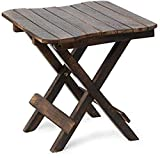 Hindoro Mango Wood Coffee and Small Centre Table, 15x15x15 Inches (Brown)