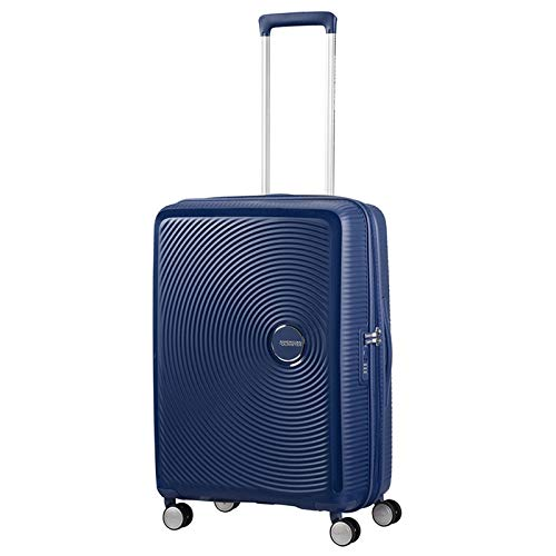 American Tourister Soundbox Spinner Bagaglio a Mano , Blu (Midnight Navy), Spinner S (55 cm - 41 L)