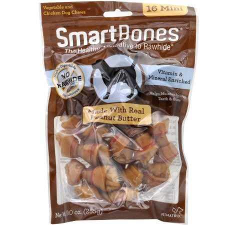 SmartBones SBPB-00211 Mini masticables con Mantequilla de Cacahuete...