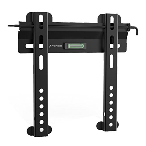 GForce Fixed TV Wall Mount - Super Flat, Ultra Slim, Low Profile, Built in Level, Fits Most 23'- 42' Inch LED, LCD and Plasma TVs - VESA Compatible - 45Kg/99LBS Weight Capacity - Black
