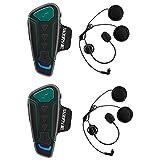 BEAUDENS Intercom Bluetooth de Casque Moto, Kit Écouteur Bluetooth,...