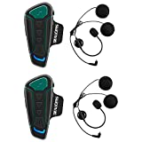 BEAUDENS Intercom Bluetooth de Casque Moto, Kit Écouteur Bluetooth, Appariement Entre 3...