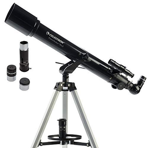 Celestron - PowerSeeker 70AZ Telescope - Manual Alt-Azimuth Telescope for Beginners - Compact and Portable - BONUS Astronomy Software Package - 70mm Aperture