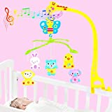 Musical Rotating Giraffe Bedbell with Animal rattles for Cradle, Crib and Baby beds