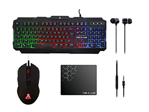 The G-Lab Combo Helium - Bundle per Gaming 4 in 1...