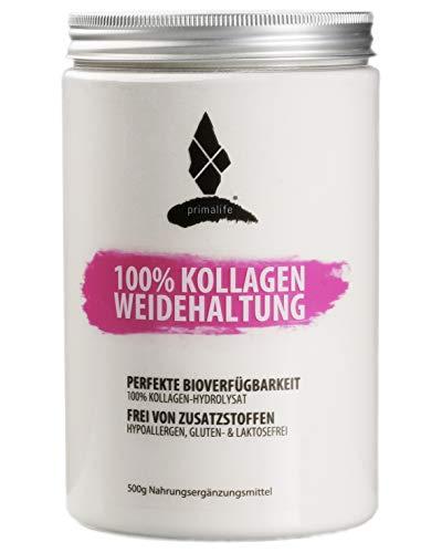 Kollagen aus Weidehaltung • 100% reines Kollagen Hydrolysat • 500g • ohne Zusätze • optimal für Paleo, Atkins, Keto und Low Carb Ernährung • in Deutschland hergestellt •