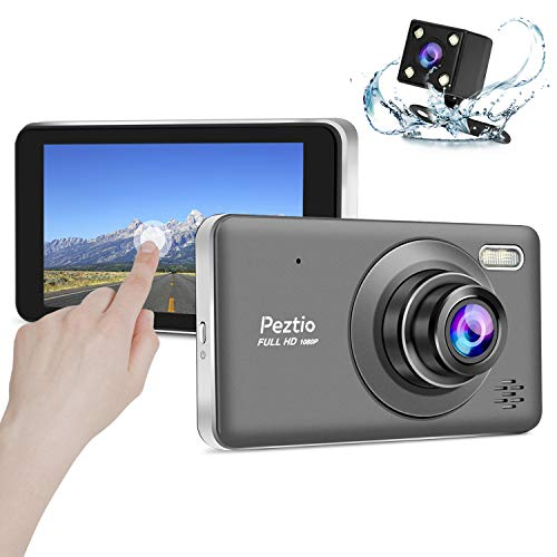 Peztio Dual Dash Cam Front and Rear