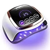 Gel UV LED Nail Lamp, 168W UV LED Nail Dryer for Gel Polish with 4 Timer Settings, Auto Sensor and LCD Touch Screen, Professional Gel Polish Light Curing Lamp for Salon and Home Use