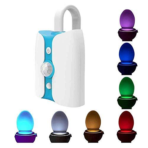 MiniCase - Luce notturna per WC, con sensore di movimento UV, luce a LED per la sterilizzazione dei...