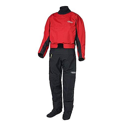 Yak Kayak & Kayaking - Mens Horizon Kayak Drysuit Dry Suit - Red - Easy Stretch Breathable 3 Layer Dry Suit Waterproof