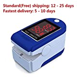 Gylfeeling6 Oximeter Fingertip Oximeter Blood Oxygen Saturation Monitor with Silicon Cover, Batteries & Lanyard Suitable for Elderly Fitness oximeter Finger