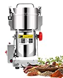 CGOLDENWALL 300g Stainless Steel Electric High-Speed Grain Grinder Mill Family Medicial Powder Machine Commercial Cereals Grain Mill Herb Grinder Pulverizer 110V Gift for Mom/Wife
