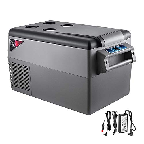 KITGARN 35L Compressor Portable Small Refrigerator Car Refrigerator Freezer Vehicle Car Truck RV Boat Mini Electric Cooler for Driving Travel Fishing Outdoor and Home Use