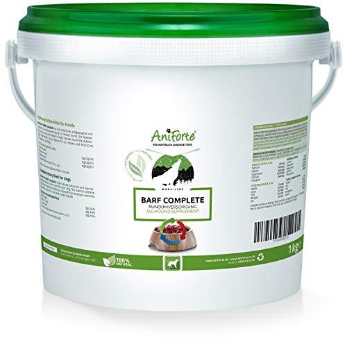 AniForte Barf Complete Polvere 1kg per Cani, Integratore Barf Completo di Alta qualità e Naturale, Ricco di Vitamine e Minerali, per l'alimentazione cruda della Carne, nelle Diete e per Perdere Peso
