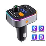 HOLALEI Transmetteur FM Bluetooth, Appel Main Libre Bluetooth V5.0, Adaptateur...