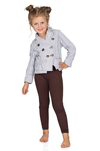 FUTURO FASHION® - Leggings para niñas - Cálidos y gruesos - Algodón - Marrón - Talla 2 años