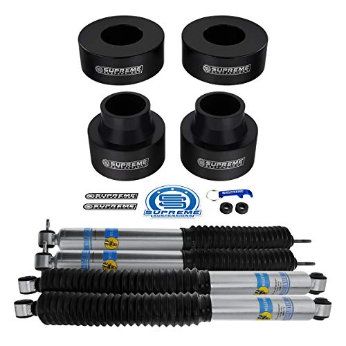 Supreme Suspensions - 3' Front + 2' Rear Full Lift Kit for Grand Cherokee WJ CNC Machined Delrin Spring Spacers with Bilstein B8 5100 Extended Shocks 2WD 4WD