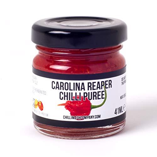 Puré de chile Carolina Reaper - Hecho en el Reino Unido utilizando ingredientes naturales solamente. Pasta de cocina extremadamente picante - El puré de chiles más caliente del mundo