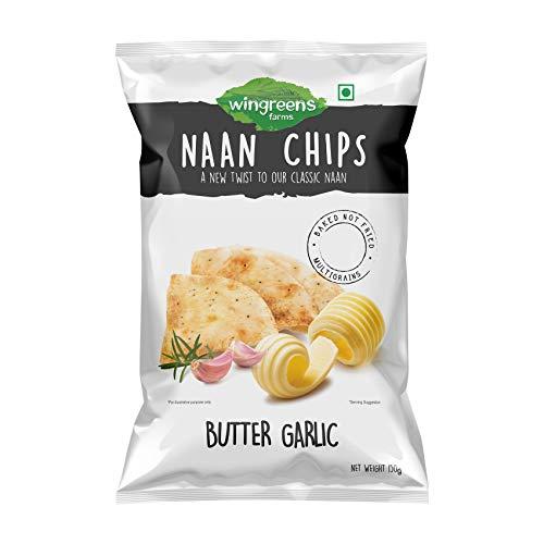Wingreens Farms Naan Chips - Butter Garlic 150g