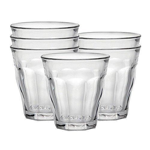 Duralex Picardie bicchiere da acqua 220ml, senza contrassegno di riempimento, 6 bicchiere