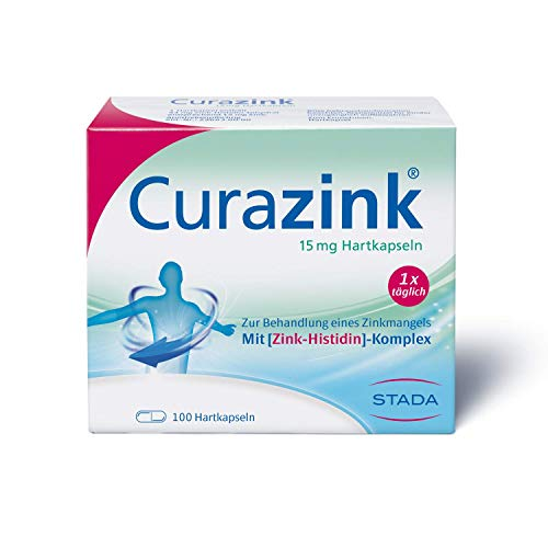 Curazink Hartkapseln - Arzneimittel zur Anwendung eines klinisch gesicherten Zinkmangels, 100 Kapseln