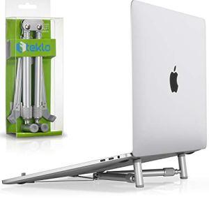 Steklo Laptop Stand Adjustable Aluminum Computer Riser, Ergonomic Foldable Portable Notebook Holder for Desk, Compatible 12 13 15 16 17 inch Mac MacBook Pro Air, Dell, HP, Lenovo PC Laptops X-Stand