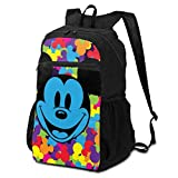 Action Figures Cartoon Mickey Mouse Folding Backpack Lightweight Packable Backpacks Multipurpose Handy Foldable Camping Beach Outdoor knapsack Pack for Waterproof for Men Women Travel Hiking Daypack