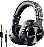 OneOdio Bluetooth Kopfhörer Over Ear Geschlossene HiFi Studiokopfhörer mit Share Port, kabellose 40Stdn Headphone kabelgebundeneDJ-Kopfhörer für E-Drum Piano Gitarre AMP Recording und Monitoring