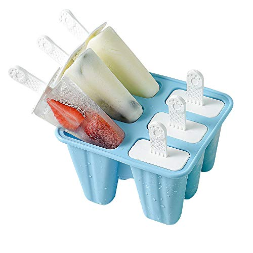 Popsicle Molds 6 Pieces Silicone Ice Pop Molds BPA Free Popsicle Mold Reusable Easy Release Ice Pop Maker