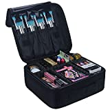 Relavel Travel Makeup Train Case Makeup Cosmetic Case Organizer Portable Artist Storage Bag with...