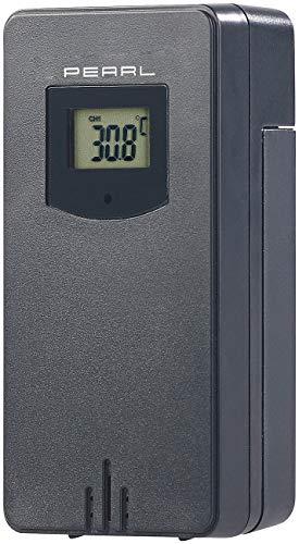 PEARL Zubehör zu Wetter-Stationen: Funk-Außensensor für Wetterstation FWS-70, 60 m Reichweite, IP44 (Funktermometer)