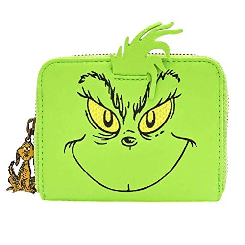 Loungefly x The Grinch Face Cosplay Faux Leather Zip-Around Wallet