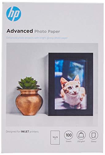 HP Advanced Glossy Photo Paper Q8692A, Confezione da 100 Fogli di Carta Fotografica Lucida,...