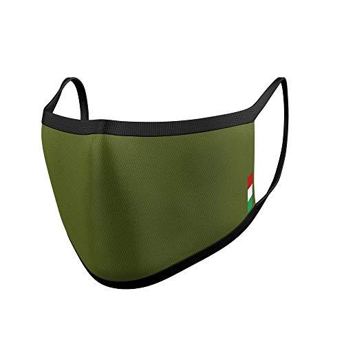 Relaxsan UNIMA [Verde Caccia] – Mascherina di cortesia Luxury ultra leggera e traspirante filato Dryarn e argento...