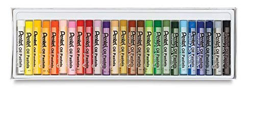 Pentel Arts Oil Pastels, 25-Color Set