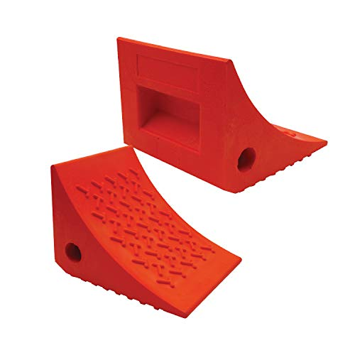 SECURITYMAN 2 Pack Wheel Chocks - Constructed of Heavy Duty Solid...