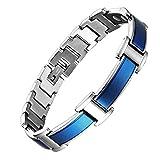 Mens Magnetic Bracelets Blue...