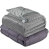 Quility Weighted Blanket for Adults - Queen Size, 60'x80', 20 lbs -...