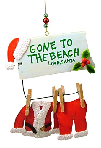 Cape Shore Santa Gone to The Beach Christmas Ornament (Regular)