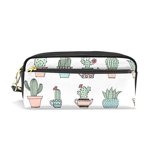 Isaoa grande capacit astuccio con cerniera cancelleria forniture cute cactus matita della penna...