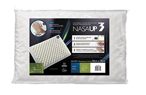 Fibrasca 4615 NasaUP 3 - Travesseiro para Fronha com Revestimento em Malha, Branco, 50x70 cm